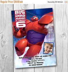 Welcome to CuteInvitation!  Big Hero 6 Invitation - Big Hero 6 Birthday Party Invitation - Big Hero 6 Printables - Baymax invitation  This