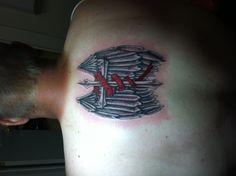 My latest tattoo. The red ribbon is for diabetes awareness. On the top the line are the initials F.D.G for my grandpa who died from diabetes.