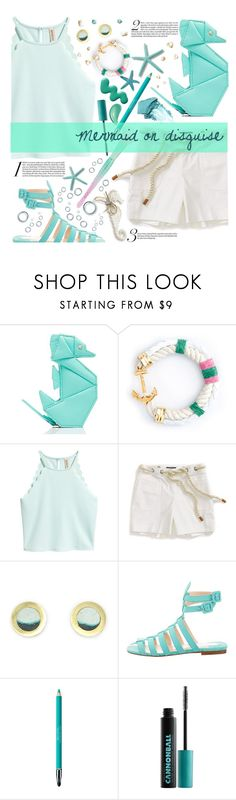 """21st Century Ariel (Mermaid on Disguise)"" by seashellvibes ❤ liked on Polyvore featuring Kate Spade, Tommy Hilfiger, Promises Promises, Christian Louboutin, Revlon, Urban Decay, Pop Beauty and Forever 21"