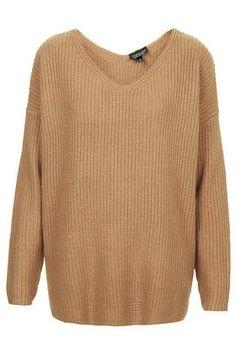 Clean Rib V Sweater - Knitwear - Clothing topshop Love Fashion, Winter Fashion, Fashion Outfits, Womens Fashion, Pullover, Ribbed Sweater, Pulls, Knitwear, Gifs