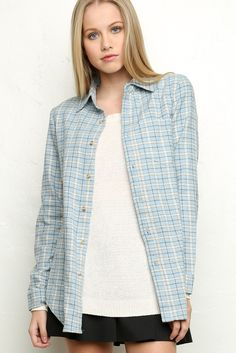 Brandy ♥ Melville | Wylie Flannel - blouses & button ups - Tops - Clothing