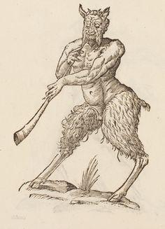 Satyri figura altera cum tuba Monstrorum Historia, (Bologna, 1642) Author: ALDROVANDI, Ulisse (1522-1605)