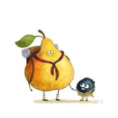 :) Wiebke Rauers illustration♥♥ - New Site Art And Illustration, Illustrations And Posters, Character Illustration, Cute Drawings, Animal Drawings, Fruits Drawing, Cute Art, Concept Art, Wallpaper