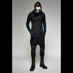 Men's T-shirt Punk Rave Casual Rock Gothic Long Sleeve Dark Mens Fashion, Gothic Fashion Men, Gothic Shop, Gothic Mode, Dark Gothic, Gothic Pants, Gothic Shirts, Gothic Clothing, Punk Outfits