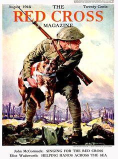 Red Cross Magazine  -  Aug 1918  Illustration by J.O. Todahl