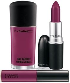 To try: Rebel – Mid-tone cream plum (satin) // lipstick or lip glass...