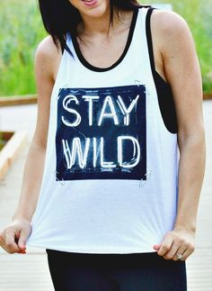 thesouthernpinkboutique.com  stay wild tank!
