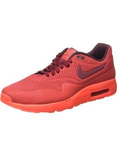 first rate c6709 c2e0e Nike Mens Air Max 1 Ultra Moire Gym Red University Red Deep Burgundy 705297