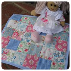 Easy patchwork dolls blanket