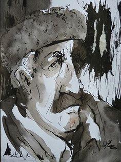 Water and ink on paper By Elaheh Riyazat