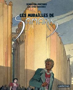 """Les cités obscures, the source material, is a 12-volume graphic novel by François Schuiten and Benoît Peeters, in which """"references to our world abound, especially in regard to architecture."""" It is a """"parallel universe,"""" we read, full of utopian construction projects and urban expeditions, strange villages and moving machine-labyrinths made from decontextualized walls. Its """"coherence is constantly growing with time."""" Written by: Benoit Peeters & Art by François Schuiten."""