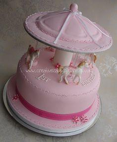 Pink Carousel Birthday Cake