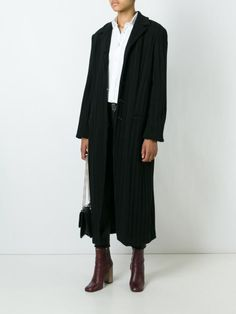 Gigli Vintage ribbed long coat