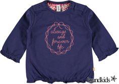 Babyface Longsleeve blauw - Meisjes Baby T-shirts lange mouw €15,95