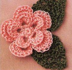 flores+de+crochet | nos enseñan un PAP de cómo hacer unas lindas flores de crochet de ...