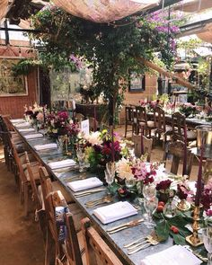 Yesterday's garden wonderland wedding set up at the amazing Petersham Nurseries for E&E. We worked with the existing colours and plants in the space (the bougainvillea ) in a palette of purples and pinks with @tbflorist absolutely smashing it on the flowers. Such a gorgeous day and huge thanks to the amazing team at Petersham. Probably the best place on earth to be on a sunny day Wedding Set Up, Wedding Flowers, Pink Table Settings, Late Summer Weddings, Forest Garden, Wedding Table Decorations, Autumn Wedding, Fairy Lights, Sunny Days
