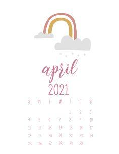 Calender Template, Printable Blank Calendar, Print Calendar, Free Printable Calendar, Calendar Design, Free Printables, Calendar Ideas, April Calender, 2021 Calendar