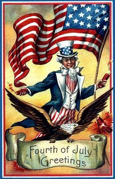 vintage fourth of july art | 4th of July | Americana vintage clip art | Pinterest