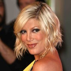 tori spelling bob | Choppy Waves - Tori Spelling's Best Hairstyles Ever
