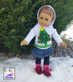 Another DIY Holiday Ugly Sweater for Dolls