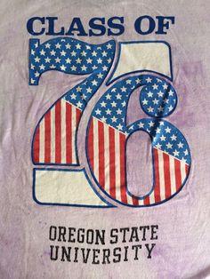 OSU Shirt 1976 CHAMPION PRODUCTS Vintage 70s Ringer Oregon G. Washington  College #ChampionProductsInc #