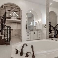 Bathroom + walk in closet = perfection
