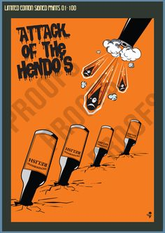 Attack of the Hendos Limited Edition Print FULL SET 5 PRINTS – Goo Design