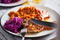 Cigánypecsenye hagymás burgonyával Risotto, Ethnic Recipes, Food, Meal, Essen, Hoods, Meals, Eten