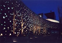 Matsumoto Performing Arts Center by Toyo Ito, this years Pritzker Architecture Prize winner: Nagano, Japan Conceptual Architecture, Japanese Architecture, Facade Architecture, Contemporary Architecture, Landscape Architecture, Classical Architecture, Sustainable Architecture, Toyo Ito, Facade Lighting