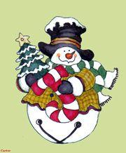 Snowman art, snowman paintings, Christmas art by Jamie Carter