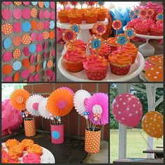 I think I might try this for the girls birthday!  Orange and pink