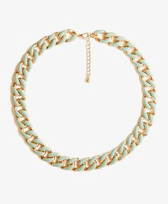 Lacquered Curb Chain Necklace | FOREVER21 - 1037188360