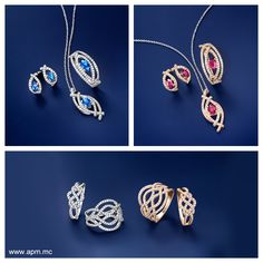 Collection Glamour - Silver, sapphire, ruby and zirconia  www.apm.mc  #apm #apmmonaco #monaco #southernfrance #chic #lifestyle #design #modern #style #silver #gold #jewelry #zirconia #diamond #finestone #accessories #necklace #ring #bracelet #bohemian #chic #glamour #sparkling #elegance #2013FW