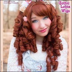 Gothic Lolita Wigs®  Ringlet Redux™ Collection - Auburn