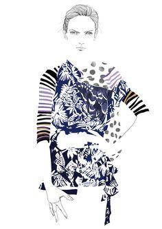 Fashion Illustration by Tracy Turnbull, via Behance