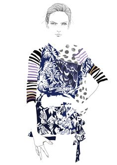 Fashion Illustration by Tracy Turnbull, via Behance