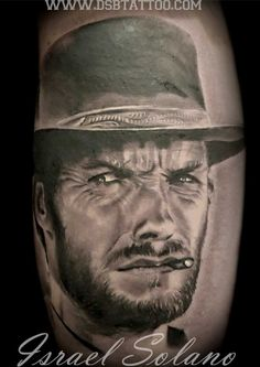 Tattoo Clint Eastwood Israel Solano