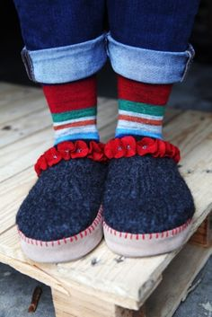 The fun embellishment on these Fiber Trends clogs is what makes them really special. And the suede slipper bottoms will make them last for years.