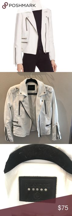 Blank NYC Leather Jacket Blank NYC white Faux leather jacket. Like New. Size Small Blank NYC Jackets & Coats