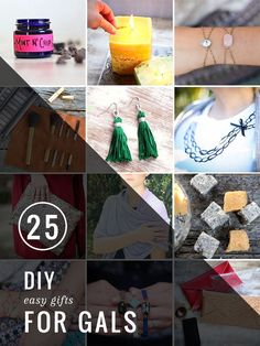 25 Easy DIY Gifts for Gals | http://hellonatural.co/25-diy-handmade-gifts-for-gals/