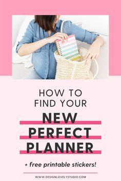 Planner Tips, Free Planner, Planner Layout, Happy Planner, Free Printable Calendar, Printable Planner Stickers, Free Printables, Planner Dividers, Perfect Planner