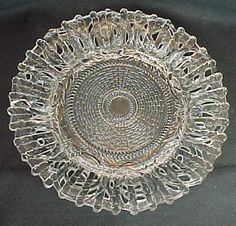 EAPG Findlay Glass Floral Fence Plate Dalzell Gilmore Leighton Ohio