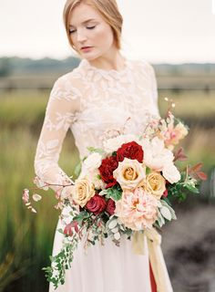 Photography: Lauren Peele  - www.laurenpeelephotography.com Floral Design: Beargrass Gardens Florals And Events - beargrassgardens.com Wedding Dress: Rue De Seine - ruedeseine.com/   Read More on SMP: http://stylemepretty.com/vault/gallery/58537