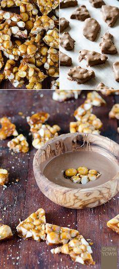 Chocolate Coated Macadamia Brittle Recipe | Chew Town Sweet Swap