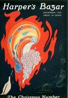 Harper's Bazar, 1929 American Magazines, The golden age of illustration Harper's Magazine, Magazine Covers, Erte Art, Vintage Vogue Covers, Art Vintage, Vintage Posters, Art Deco Movement, 23 November, Illustrations And Posters