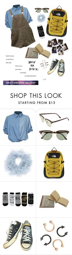 """""""does it drive you crazy"""" by uxly ❤ liked on Polyvore featuring Chicnova Fashion, Ray-Ban, Nanà Firenze, The North Face, Nasty Gal, NOVICA and Converse"""