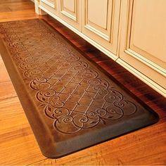 trellis scroll anti fatigue kitchen comfort mat - Anti Fatigue Mats Kitchen