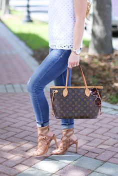 Styled Adventures: White Eyelet Top