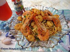 Λαζανάκι με γαρίδες Spaghetti, Chicken, Meat, Ethnic Recipes, Food, Eten, Meals, Noodle, Cubs