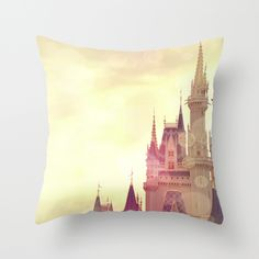Disney+Cinderella+Castle+Throw+Pillow+by+AndreaClare+-+$20.00